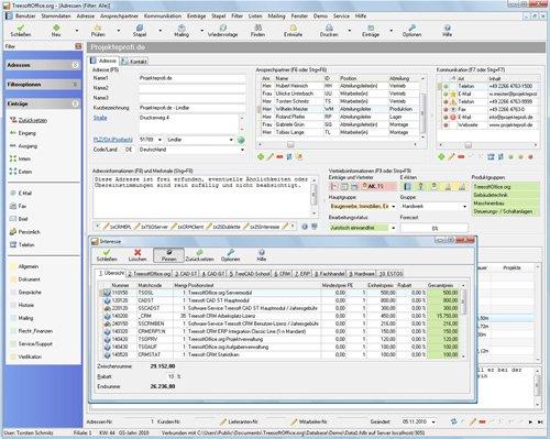 9. Produktbild Kundenbeziehungsmanagement - Treesoft CRM