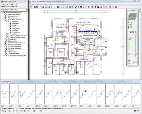 Treesoft CAD Gebaeudetechnik: Elektroinstallationspläne schnell wie der Blitz