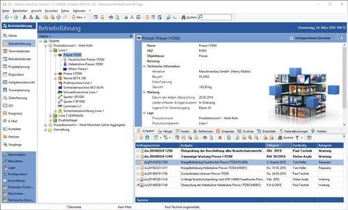 1. Produktbild GS-Service - Instandhaltungssoftware, IPS, Betriebsführung