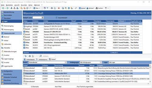 8. Produktbild GS-Service - Instandhaltungssoftware, IPS, Betriebsführung