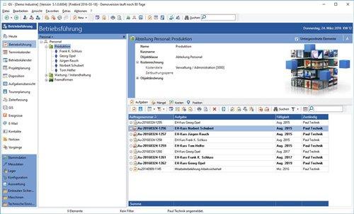 2. Produktbild GS-Service - Instandhaltungssoftware, IPS, Betriebsführung