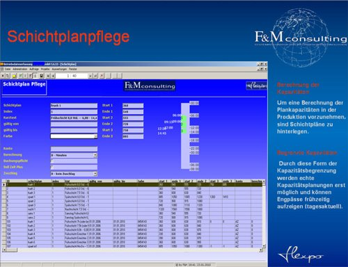 14. Produktbild flexpo - SUITE für MES, BDE, MDE, PZE, PDM-PLM