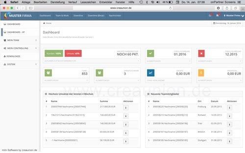 1. Produktbild onPartner - mlm Software f�r Networkmarketing und Direktvertrieb