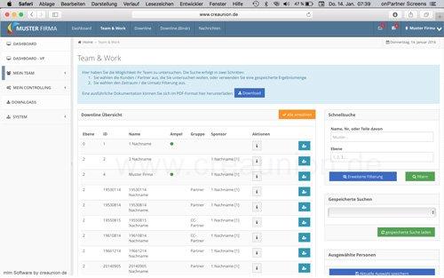 3. Produktbild onPartner - mlm Software f�r Networkmarketing und Direktvertrieb