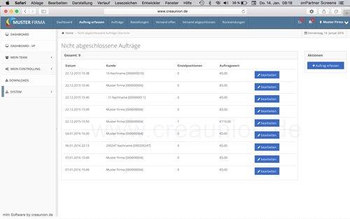12. Produktbild onPartner - mlm Software f�r Networkmarketing und Direktvertrieb