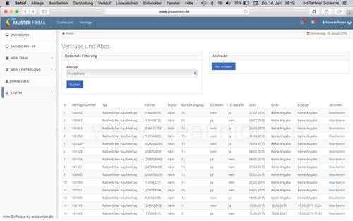 14. Produktbild onPartner - mlm Software f�r Networkmarketing und Direktvertrieb