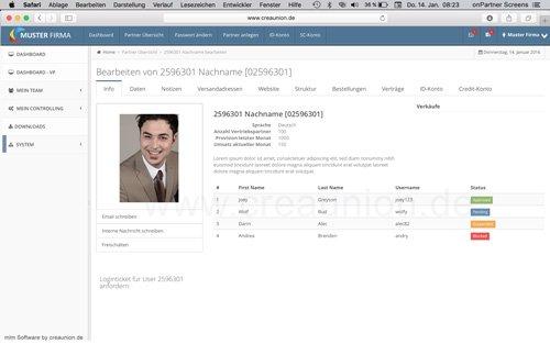 16. Produktbild onPartner - mlm Software f�r Networkmarketing und Direktvertrieb