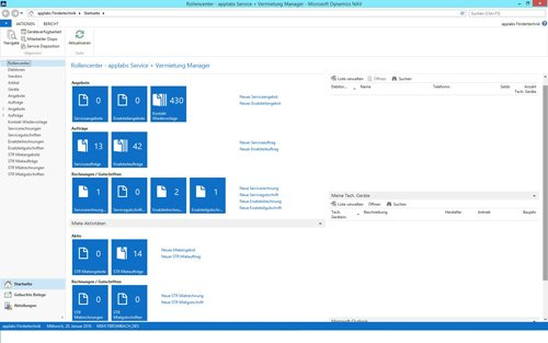 1. Produktbild Branchenlösung Rental & Service für Vermietung Flurförderzeuge