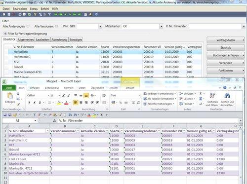 4. Produktbild GIN-AX : Maklersoftware f�r Versicherungsmakler und Versicherer