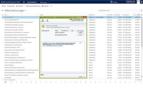 1. Produktbild UniPRO/DATEV-Schnittstelle f�r Microsoft Dynamics CRM