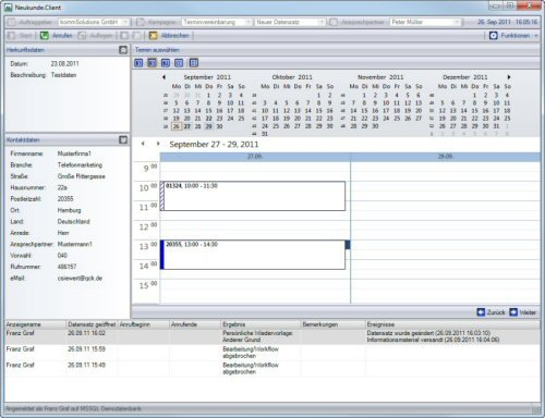 1. Produktbild Neukunde.com - Software f�r Callcenter