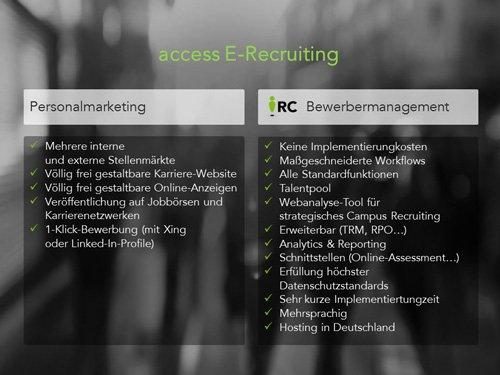 2. Produktbild access Recruiters Center