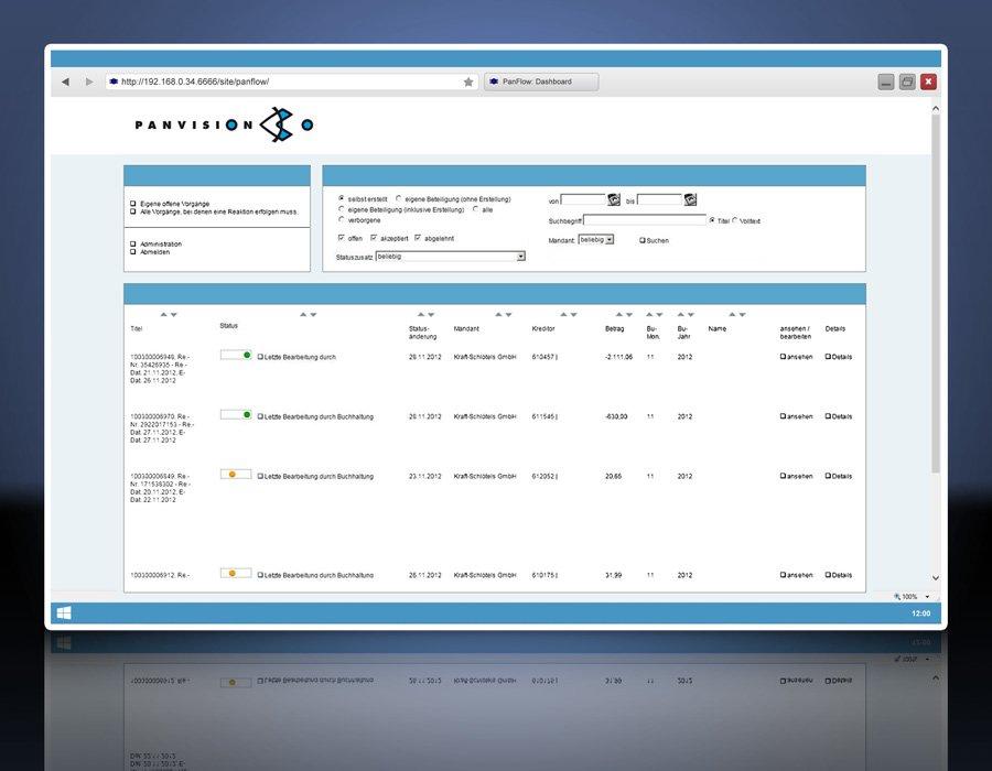 3. Produktbild - Das Dashboard
