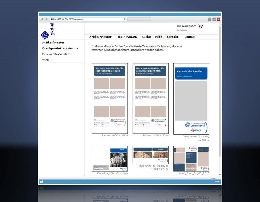 1. Produktbild - Das Front-End für Asset-Nutzer