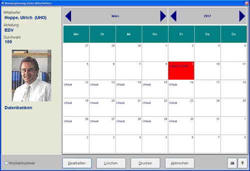 5. Produktbild Urlaub - Abwesenheitsplaner Personaleinsatzplanung