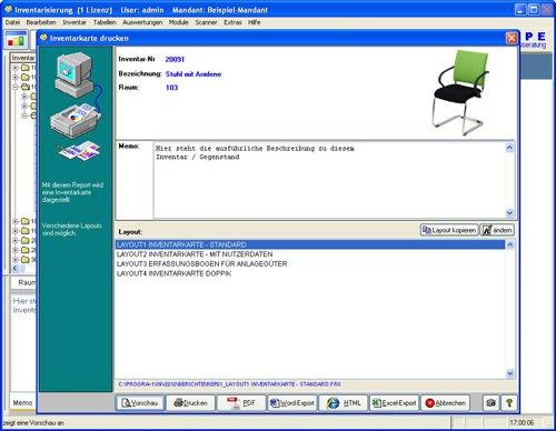 7. Produktbild Inventarsoftware f�r Barcode Inventur-Etiketten