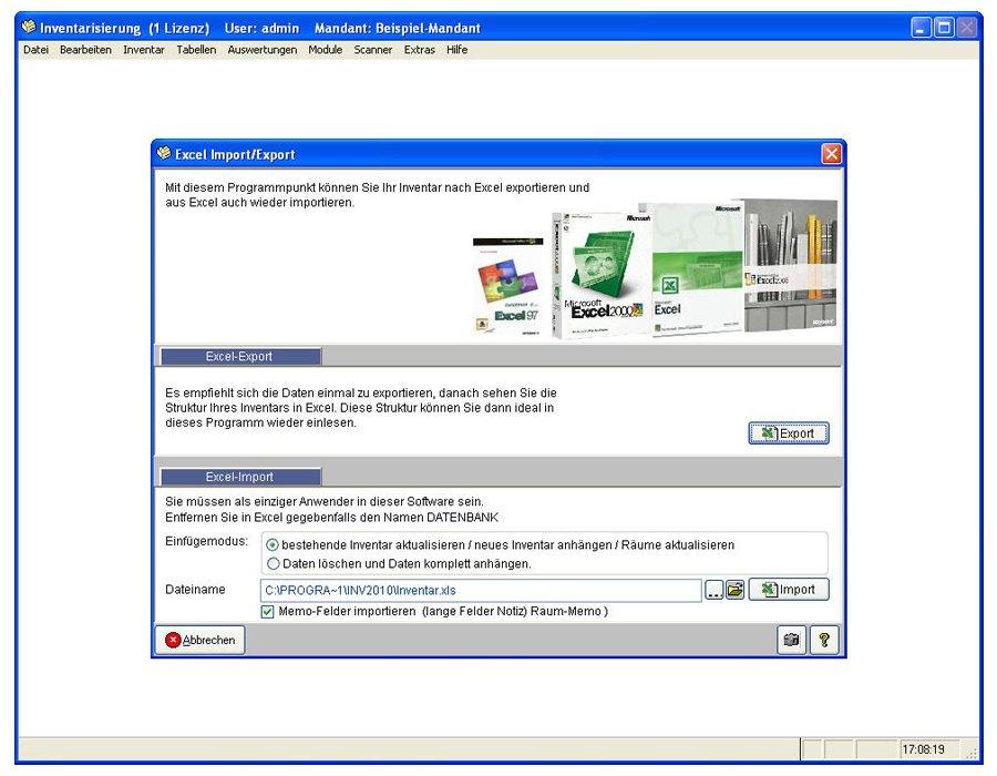 11. Produktbild Inventarsoftware f�r Barcode Inventur-Etiketten