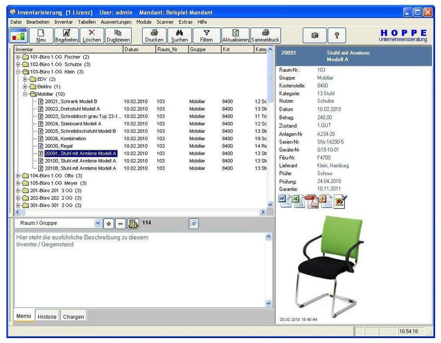 1. Produktbild Inventarsoftware f�r Barcode Inventur-Etiketten