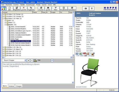 1. Produktbild Inventarsoftware für Barcode Inventur-Etiketten