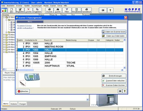 12. Produktbild Inventarsoftware f�r Barcode Inventur-Etiketten