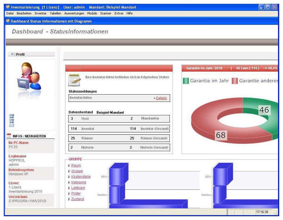 2. Produktbild Inventarsoftware f�r Barcode Inventur-Etiketten