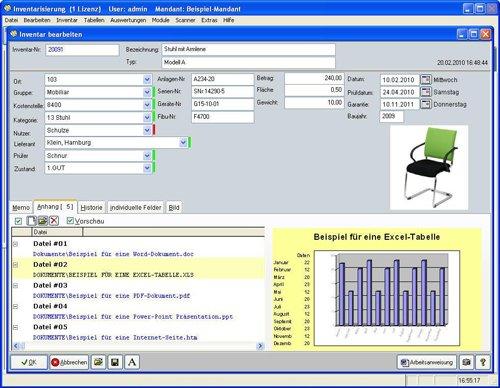 5. Produktbild Inventarsoftware f�r Barcode Inventur-Etiketten