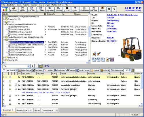 1. Produktbild Wartungsplaner BGV Prüffristenmanagement Instandhaltungssoftware