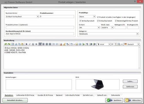 5. Produktbild Tresor Bürosoftware