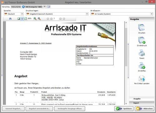 7. Produktbild Tresor Bürosoftware