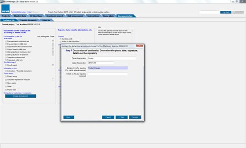11. Produktbild WEKA Manager CE - für CE-Prozess nach Maschinenrichtlinie 2006/42/EG