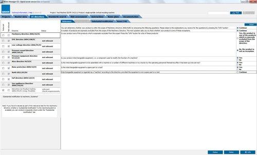5. Produktbild WEKA Manager CE - für CE-Prozess nach Maschinenrichtlinie 2006/42/EG