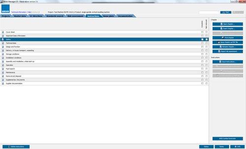 9. Produktbild WEKA Manager CE - für CE-Prozess nach Maschinenrichtlinie 2006/42/EG