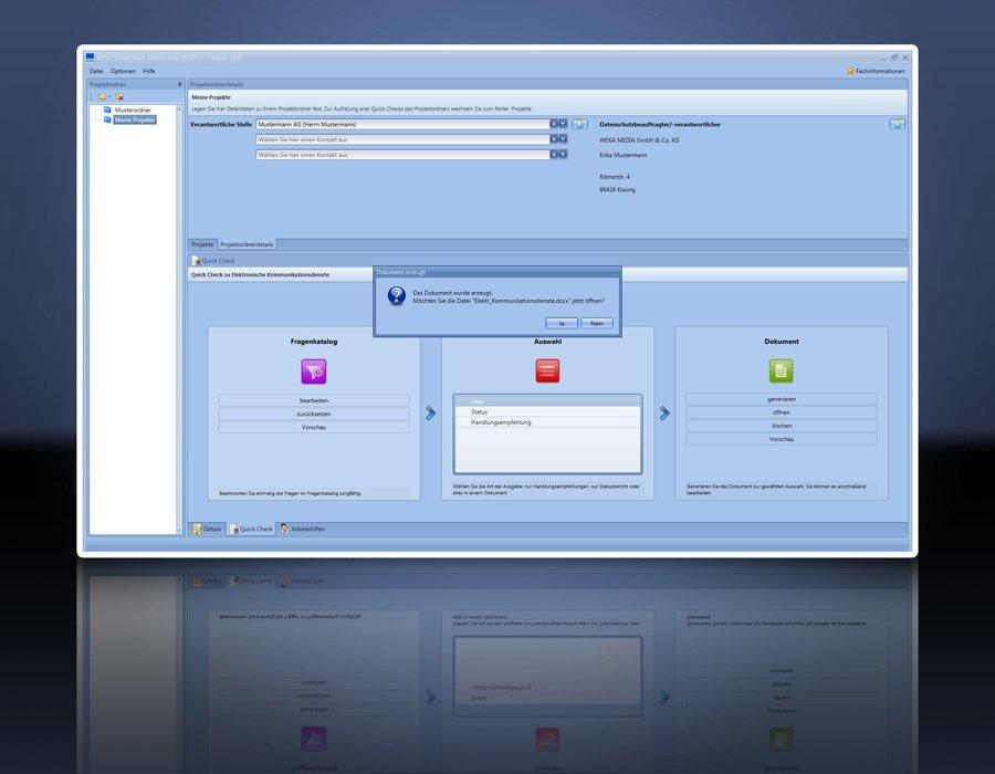 4. Produktbild Praxissoftware Quick Check Datenschutz