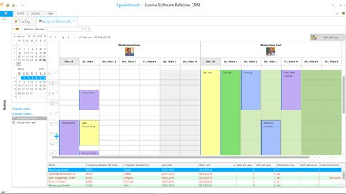 1. Produktbild Sunrise Software Relations CRM