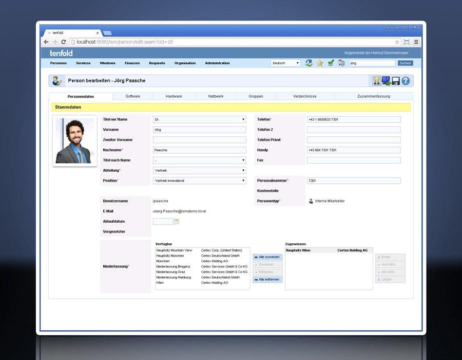 2. Produktbild tenfold - Integrierte Lösung für Berechtigungsverwaltung