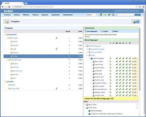 3. Produktbild tenfold - Integrierte L�sung f�r Berechtigungsverwaltung