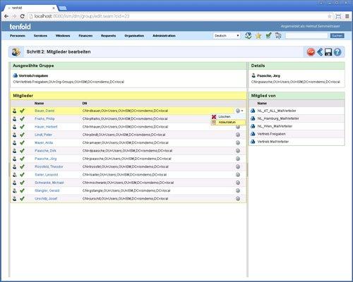 4. Produktbild tenfold - Integrierte L�sung f�r Berechtigungsverwaltung