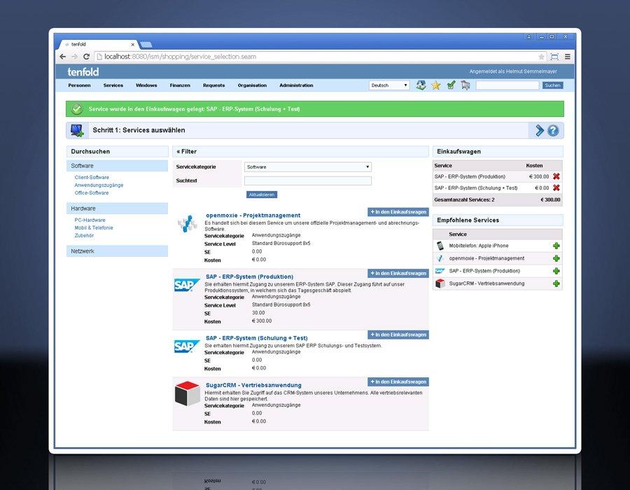 5. Produktbild tenfold - Integrierte L�sung f�r Berechtigungsverwaltung