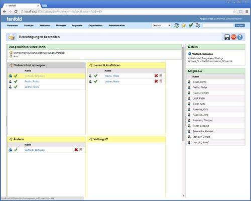 7. Produktbild tenfold - Integrierte L�sung f�r Berechtigungsverwaltung
