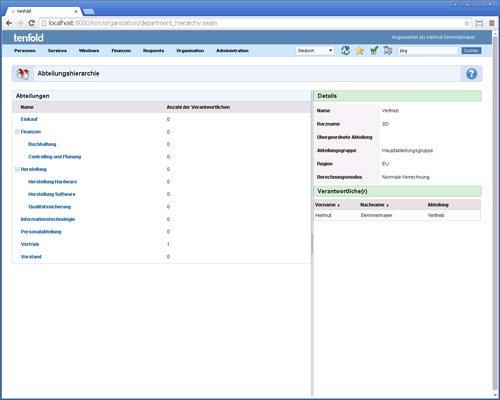 8. Produktbild tenfold - Integrierte L�sung f�r Berechtigungsverwaltung