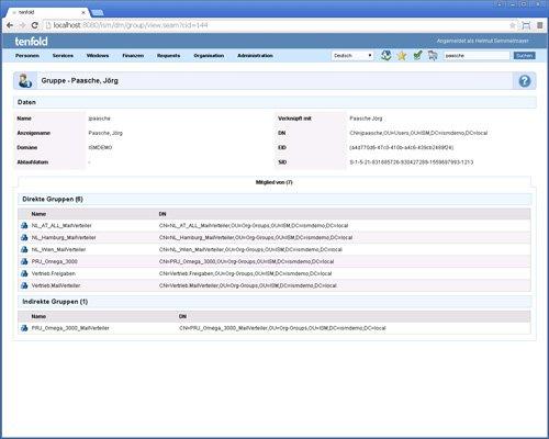 14. Produktbild tenfold - Integrierte L�sung f�r Berechtigungsverwaltung