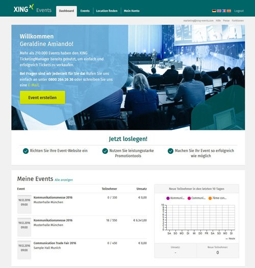 2. Produktbild XING Events - Ticketing Software & Online Registrierung