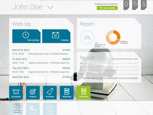 1. Produktbild askDANTE - Zeiterfassungssoftware