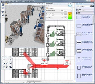 1. Produktbild visTABLE�touch - Fabrikplanungssoftware