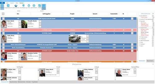 1. Produktbild CCGROM - Software zur einfachen Ressourcenplanung