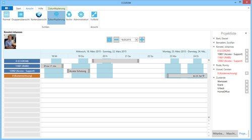 2. Produktbild CCGROM - Software zur einfachen Ressourcenplanung