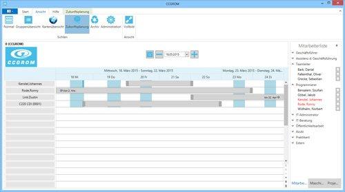 3. Produktbild CCGROM - Software zur einfachen Ressourcenplanung