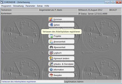1. Produktbild CHRONEX-Zeiterfassung - Dienstplaner