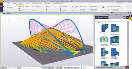 1. Produktbild Tekla Structures f�r Stahlbau / Metallbau / Anlagenbau / Stahlbetonbau