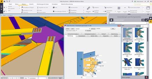 2. Produktbild Tekla Structures f�r Stahlbau / Metallbau / Anlagenbau / Stahlbetonbau